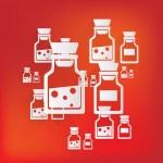 Laboratory medical flask — Stock Vector
