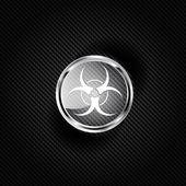 Biohazard icon,biological danger — Stock Vector