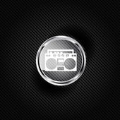 Retro tape recorder, hipster style — Vector de stock