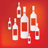 Wine bottle icon — Stock Vector