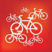 Hipster retro bicycle icon — Stock Vector