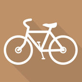 Hipster retro bicycle icon — Vettoriale Stock