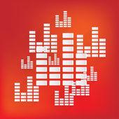Equalizer-Symbol. Musik-Sound Wave-symbol — Stockvektor