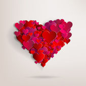 Valentines day. Abstract paper hearts. Love — Wektor stockowy