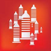 Condom icon. Health care. Medical background — Vector de stock
