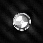 Music vinyl disk icon,flat design — Stock Photo