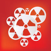 Radiation danger icon — Stock Vector