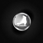 ícone de web de skate — Vetor de Stock