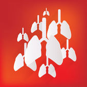 Human lung icon. Medical background. Health care — Stock Vector