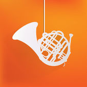Music wind instruments icon — Stock Vector