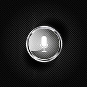 Microphone web icon, flat design — Stock Vector