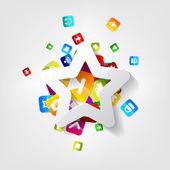 Application button.Social media.Cloud computing. — Stock Vector