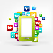 Toepassing button.social media.cloud computing. — Stockvector