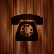 Retro telephone web icon — Stock Vector #44980017