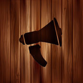 Loudspeaker icon. Microphone symbol — Stock Vector