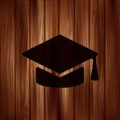 Academic cap icon. — Stock Vector
