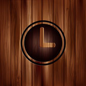 Clock web icon button. Time symbol. — Stock Vector