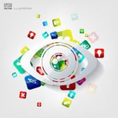 Abstract medical background with application icons. — Vecteur