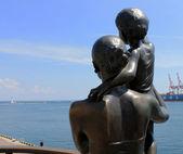 Monument wife seaman in Odessa — Stock Photo