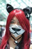 Tifosi in costume ad un la anime expo 2012 — Foto Stock
