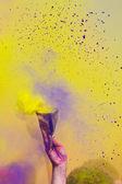świętować festiwalu holi kolorów — Zdjęcie stockowe