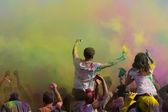 Fira holi festival av färger — Stockfoto