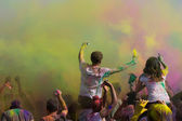 Fêter holi festival de couleurs — Photo
