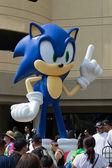 Sega Sonic The Hedgehog, at the Comic Con — Stock Photo