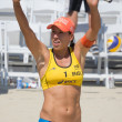 Brazilian beach volley player Taiana Lima during the ASICS World — Stock Photo