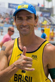 Emanuel athlete in the ASICS World Series of Beach Volleyball 2013 — Stock Photo