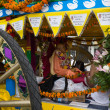 Chariot with picture of Srila Prabhupada in the 37th Annual Festival of the Chariots — Stock Photo