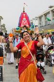 Discípulo de mulher dançando nas ruas durante o 37º fes anual — Foto Stock
