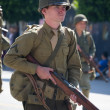 Stock Photo: Soldier in uniform in the 73th Annual Nisei Week Grand Parade