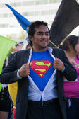 Comic fans in the 73th Annual Nisei Week Grand Parade — Stock Photo