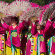 Korean dancers participate at 40th LA Korean Festival — Stock Photo