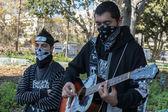 Manifestanti si sono radunati in piazza contro la corruzione — Foto Stock