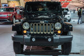 Jeep Wrangler Dragon Edition car on display at the LA Auto Show. — Stock Photo