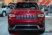Grand Cherokee car on display at the LA Auto Show. — Stock Photo