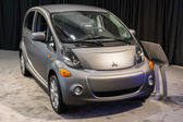 Mitsubishi I-MiEV car on display at the LA Auto Show. — Stock Photo