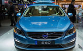VOLVO S60 car on display at the LA Auto Show. — Stock Photo