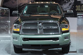 RAM 3500 Longhorn truck on display at the LA Auto Show. — Stock Photo