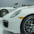 Porsches car on display at the LA Auto Show. — Foto Stock