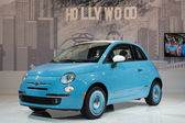 Fiat 500 1957 Edition car on display at the LA Auto Show. — Stock Photo