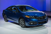 Honda Civic Coupe car on display at the LA Auto Show. — Stock Photo