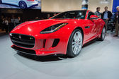 Jaguar F-Type car on display at the LA Auto Show. — 图库照片