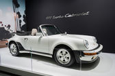 Porsche 911 Cabriolet car on display at the LA Auto Show. — Stock Photo