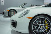 Porsches car on display at the LA Auto Show. — Stock Photo