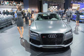 Audi RS 7 car on display at the LA Auto Show. — Stok fotoğraf