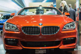 BMW 650i Convertible car on display at the LA Auto Show. — 图库照片