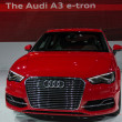 Audi A3 e-tron car on display at the LA Auto Show. — Stock Photo